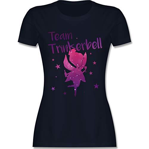 Kostüm Sprit - JGA Junggesellinnenabschied - Team Trinkerbell - L - Navy Blau - L191 - Damen Tshirt und Frauen T-Shirt