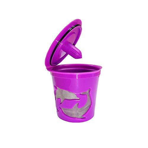 Nachfüllbarer wiederverwendbarer Kapseltassenfilter für Kaffee, Café, Küche rose - Keurig Karaffe Filter