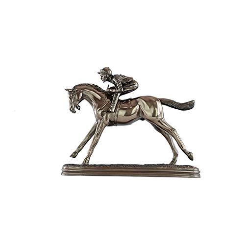 Wham Moon Escultura Estatuilla Estatua Adorno Artesanía, división Ecuestre Resina Escultura Regalos...