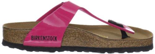 Birkenstock Classic Gizeh Birko-Flor, Damen Zehentrenner, Pink (Pink Lack), 35 EU -