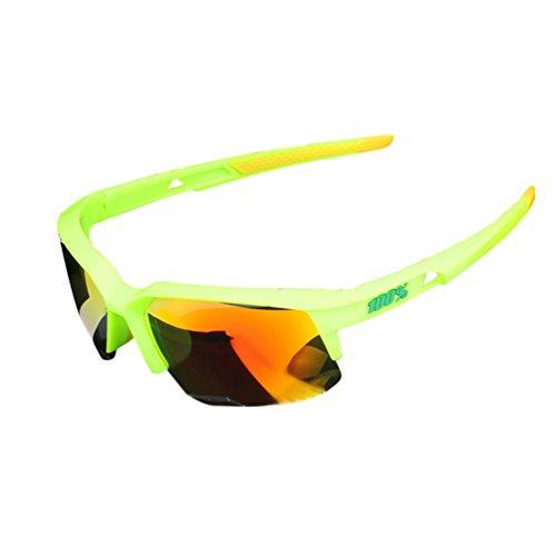 Dexinx Unisex Unzerbrechliche Low Light Mountainbike Brille Elegante Anti-UV Motorrad Sport Sonnenbrille Grün