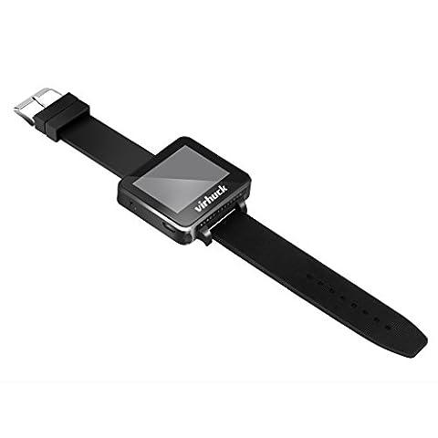"""Virhuck T909 Mini FPV Moniteur Montre Récepteur 5.8GHz 32CH 2"""" Écran TFT LCD Antenne 3dBi Intégré Transmission en Temps Réel - Noir"""