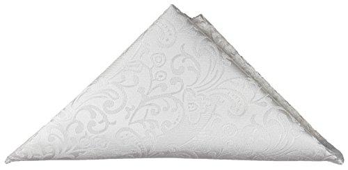 Paul Malone Einstecktuch Microfaser weiß barock