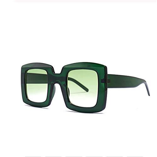 Frauen Unisex Square Sonnenbrille Herren Fashion Style Sonnenbrille Damen Übergroße Big Frame Eyewear Black Leopard UV400 (Lenses Color : C5)