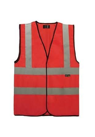 Hi Viz Hi Visibility Work Vest Safety Waistcoat EN471 Pink Green Red Navy S-4XL