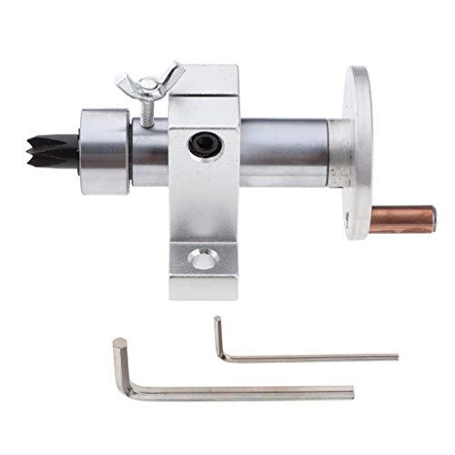 Homyl Einstellbare Drehteller für Mini Drehmaschine Holzbearbeitung Werkzeug, Doppel Lager, Gesamtlänge 100 mm, Sechs Eckig Drehstahlspitze