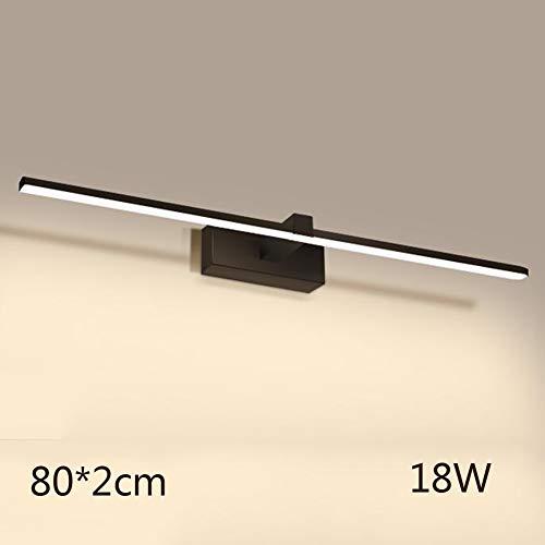 armweiß Make-up Lampe Portable Eitelkeit Spiegelleuchte Beleuchtung Fixture Strip Badleuchte Wandleuchte Nachtlicht-schwarz 80cm(31inch) ()