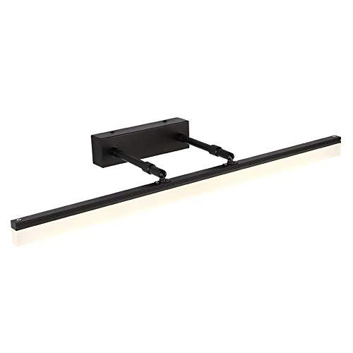 Wandleuchte Emergenza Modern und minimalistisch LED Spiegelleuchte für Badezimmer Lampe für Schrank mit Spiegel und Rauschen, wasserdicht, versenkbar Black-warm Light-50cm
