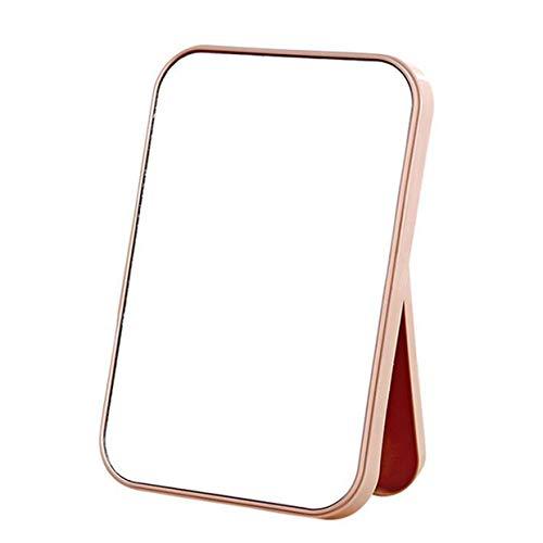 MXECO Home Desktop Toilet Espejo de Maquillaje Espejo Plegable portátil Minimalista Rectángulo Espejo...