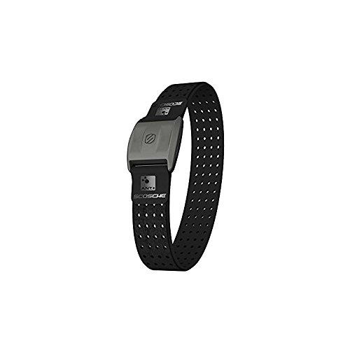 Scosche - Rhythm+ Pulse Monitor Armband mit Bluetooth-Funktion I Herzfrequenzmessung I Sportarmband I Fitness Gadget I Wasserdicht & Schweißfest I Elegantes Design I für iOS & Android - Schwarz -