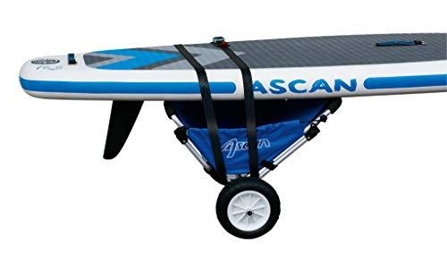 Ascan Boardbuggy Transportwagen Kanuwagen, Kajakwagen, Surfwagen, Beachbuggy Transporthilfe mit Sitz, pannensichere Reifen