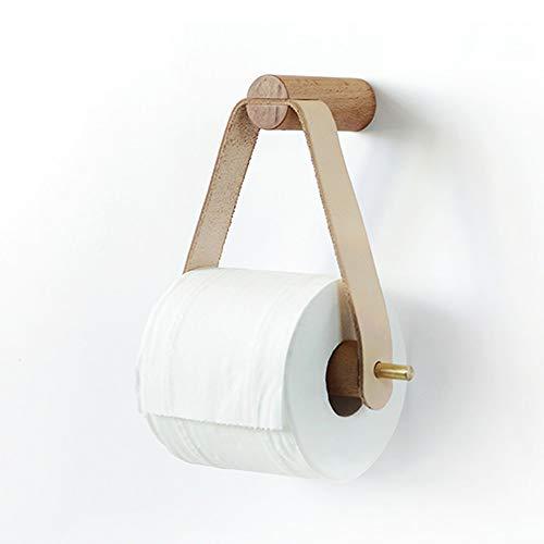 LifeX Soporte de Papel higiénico de Madera Maciza Creativo Montado en la Pared Dispensador de Toallas de Papel de almacenaje Colgador de Papel higiénico Colgante, Accesorios de baño