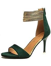 NVXZD Mujer-Tacón Stiletto-Zapatos del club-Tacones-Vestido Informal Fiesta y Noche-PU-Negro Rojo Verde , green , us6 / eu36 / uk4 / cn36