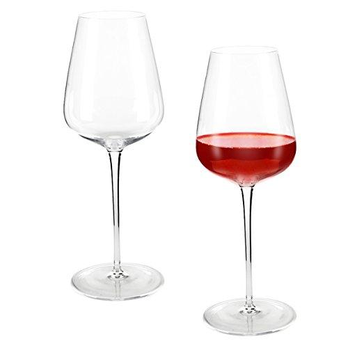 Incutex 2er Set mundgeblasenes großes stilvolles Premium Weinglas 700 ml Rotweinglas Kristallglas...
