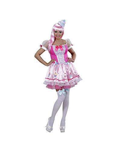 Cupcake Mädchen Erwachsene Kostüm Für Frauen - Horror-Shop Lollipop Mädchen Frauenkostüm M