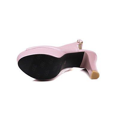 LvYuan Da donna Sandali Cinturino alla caviglia PU (Poliuretano) Estate Serata e festa Cinturino alla caviglia A stilettoBianco Rosa Azzurro blushing pink