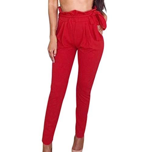 YWLINK Damen Kleidung,Frauen Mode Solide Gamaschen Einfarbig LäSsige Hose Mit Tunnelzug