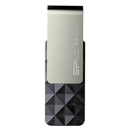 B Blaze B30 USB-Stick/Flash Laufwerk USB 3.0 mit schwenkbarer Kappe für Windows/Mac - schwarz-silber ()