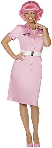 Sandy Einfach Grease Kostüm - Smiffys, Damen Frenchy Kostüm, Kleid und Gürtel, Grease, Größe: M, 36105