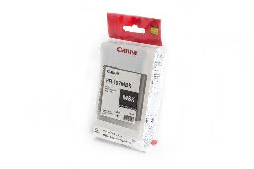 Ipf Serie (Canon Original 6704B001 / PFI-107MBK, für imagePROGRAF IPF 770 Series 1x Premium Drucker-Patrone, Schwarz matt, 130 ml)