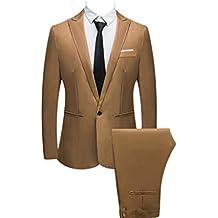 ¡Gran promoción!Hombres Traje Delgado con Botones Rovinci Vestido de Color Puro Blazer Host