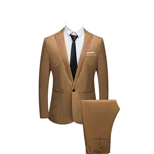 FRAUIT Abito Uomo Completo Elegante Estivo Vestito Elegante Uomo +  Pantaloni Tut c177b21d9ea