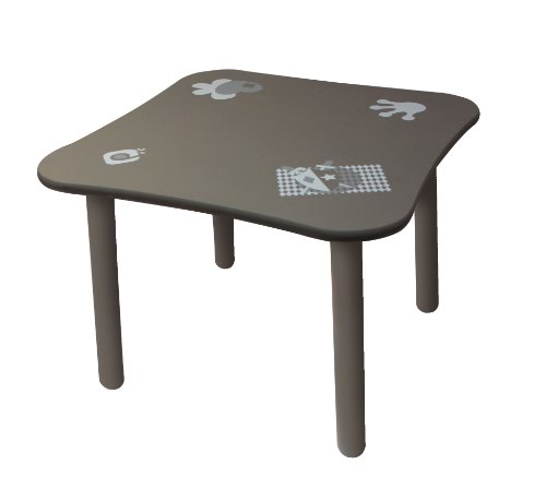 Diabolo Kids Table Prince et Princesse - Gris et Taupe