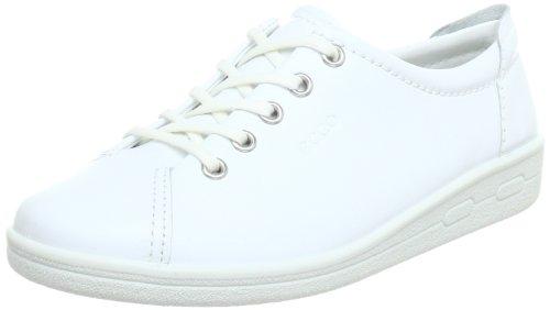 Ecco Soft II Damen Derby Schnürhalbschuhe Weiß (WHITE 107)