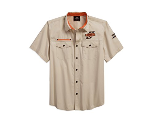 HARLEY-DAVIDSON Men's Screamin' Eagle Twill Shirt Hemd, 96288-18VM, M (Mens Eagle Harley Davidson)