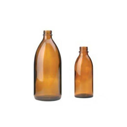 neoLab 2-1462 Enghals-Schraubflasche ohne Schraubverschluss, DIN 22, 100 mL, Braun