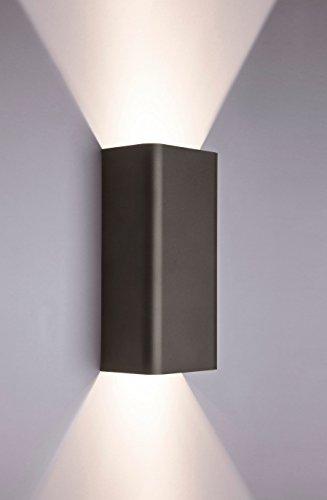 Flut-metall (Moderne Wandlampe Up Down in Graphit GU10 Metall Lampe Strahler Flut Hotel Schlafzimmer Wand Leuchte)