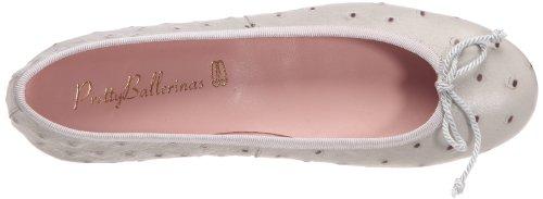Pretty Ballerinas 36653, Ballerines femme Gris perlé (Ostrich Keros)