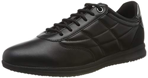 Geox Damen D Avery C Sneaker, Schwarz (Black C9999), 40 EU