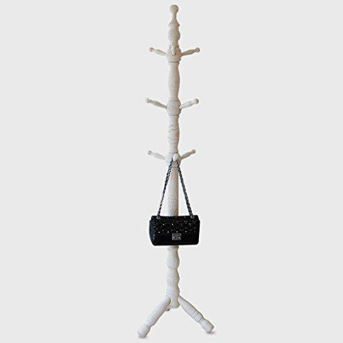 SKC Lighting-Porte-manteau Porte-vêtements en bois massif Porte-vêtements suspendu Salle de séjour européenne Salon de la cabine de suspension (Couleur : Blanc)