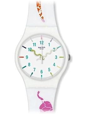 Swatch Unisex-Armbanduhr The Legend of White Snake Analog Quarz Silikon SUOZ158