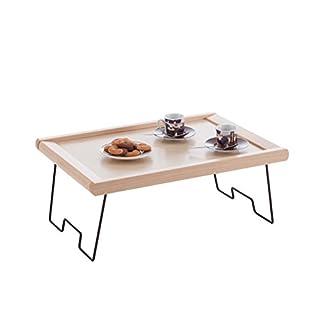 ARREDAMENTI ITALIA Frühstückstablett MELFO Fach, Holz - Service/Bett - klappbar - Farbe: Naturlich AR-It il Cuore del Legno