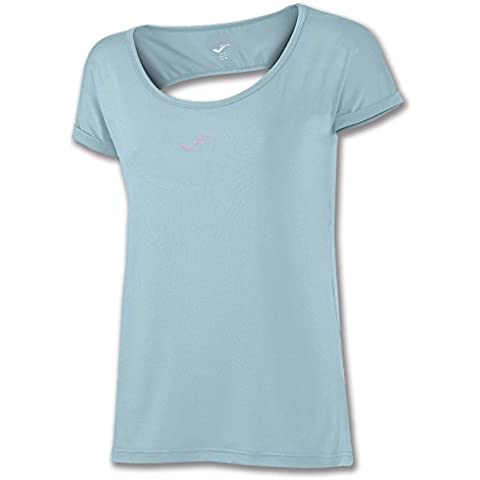 Joma - Camiseta tropical celeste espalda redonda m/c para mujer