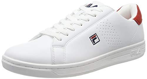 Fila Herren Crosscourt 2 F low Sneaker, Mehrfarbig (White Red 02a), 43 EU (Fila Für Tennis-schuhe Herren Von)