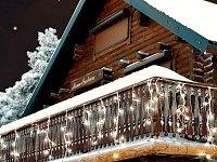 Lunartec LED Lichterketten-Vorhang 'Snow' mit 180 LEDs, warmweiß von Lunartec bei Lampenhans.de