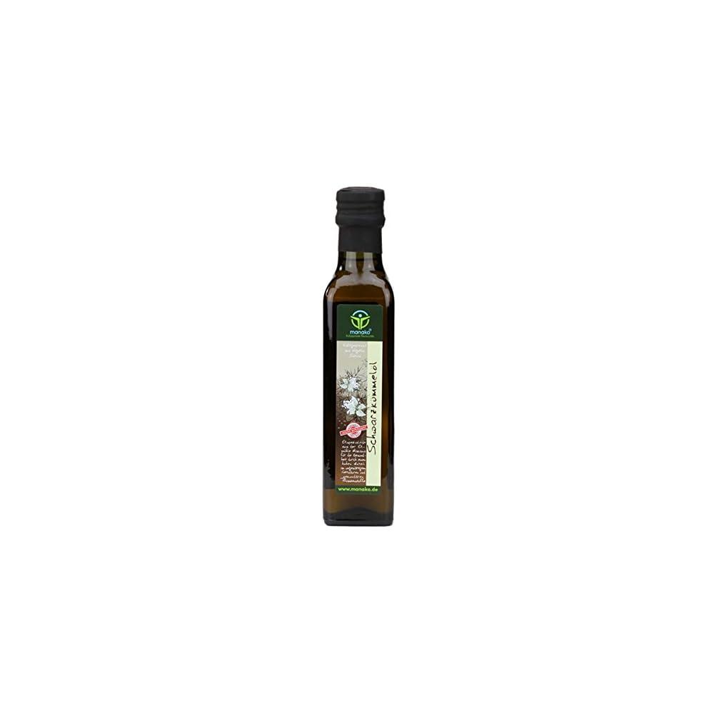 Manako Schwarzkmmell Human Kaltgepresst 100 Rein 250 Ml Glasflasche 1 X 025 L