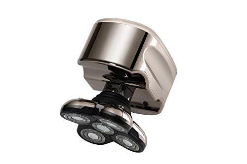 Skull Shaver Pitbull Platinum Afeitadora Eléctrica para Hombre para Barba y Cabeza Afeitadora Rotativa Máquina de Afeitar Eléctrica para Cabezas Calvas