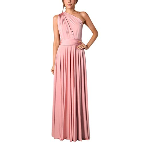 MAYOGO Kleider Damen Cocktailkleid V-Ausschnitt Rückenfrei Neckholder Abendkleider Elegant Brautjungfernkleider Multi-Way Lang Maxikleid Party Kleid Multiway-Kleid mit Schlitz -
