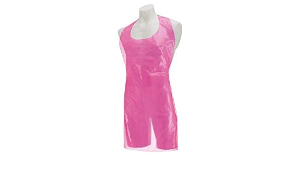 Pink 2830 69cm x 117cm Pack of 200 Premier Disposable Polythene Aprons On A Roll