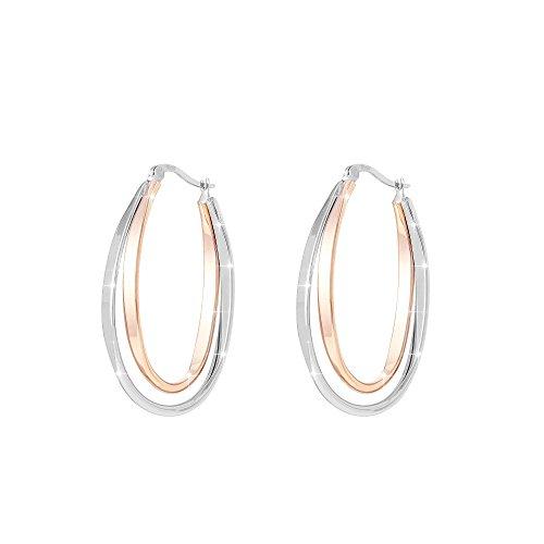 Stroili - Orecchini cerchio in acciaio bicolore per Donna - Lady Code