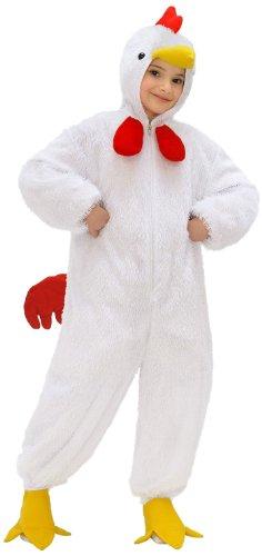 Kostüm Hahn Fancy Dress - Widmann 9755F - Kinderkostüm Huhn, Overall mit Maske, circa 134 cm
