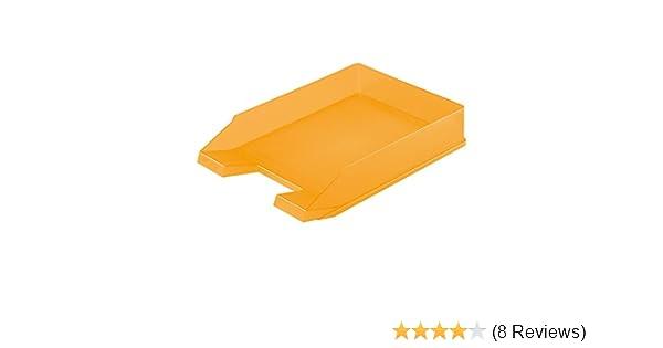 Briefkorb Briefablage transluzent orange Ablagekorb Farbe