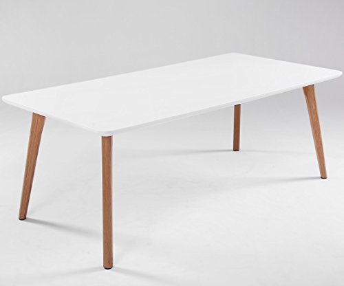 ComptoirXL Table Basse Design scandinave AIKA 120 cm x 60 cm chêne et Blanc