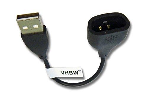 vhbw Ladekabel 10cm Ladestation für Fitbit One Smartwatch, Fitnesstracker Ersatzkabel Datenkabel