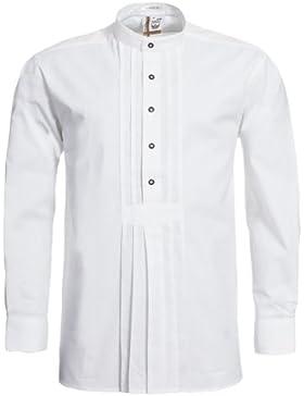 Schweighart Trachtenhemd Max Regular Fit mit Riegel in Weiß