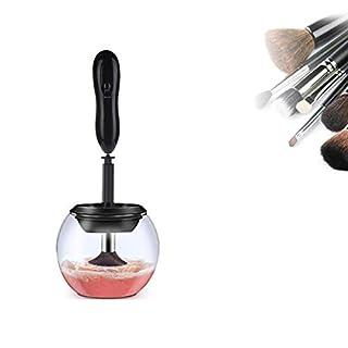 Wishing Elektronischer Makeup Pinselreiniger Set Elektrische Pinselreinigung Reinigungsgerät Trockner Gerät mit 8 Gummi-Halter für Verschiedene Größe Kosmetikpinsel